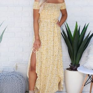 daisy floral maxi dress